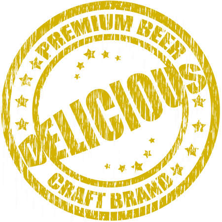 Stamp with text premium beer inside, vector illustration