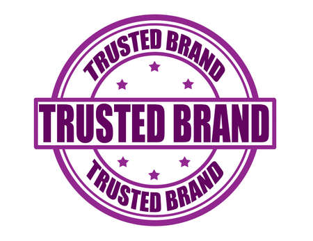 trusted: Stamp with text trusted brand inside, vector illustration