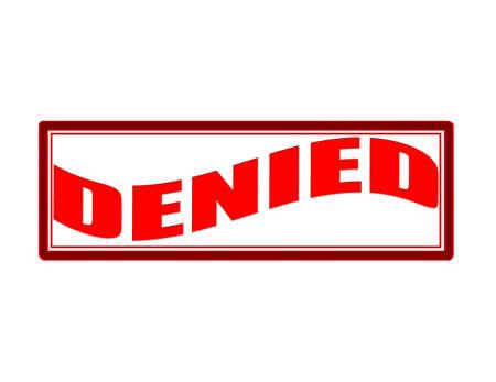 denied: Sello con la palabra negada interior, ilustraci�n vectorial