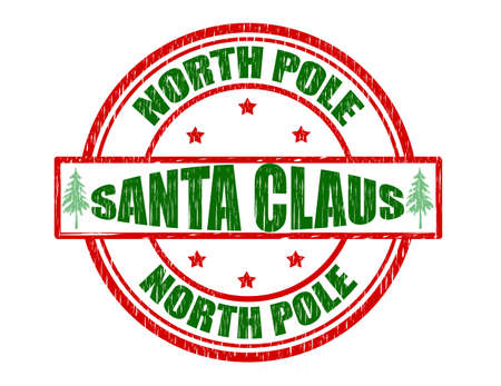 Stamp with text Santa Claus inside, vector illustration Illustration