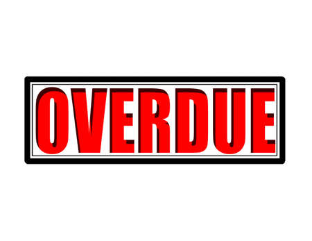 overdue: Stamp with word overdue inside, vector illustration