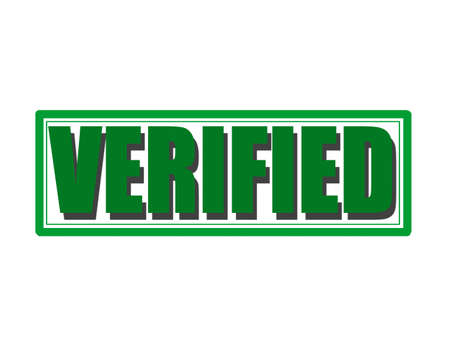 verified stamp: Stamp with word verified inside, vector illustration Illustration