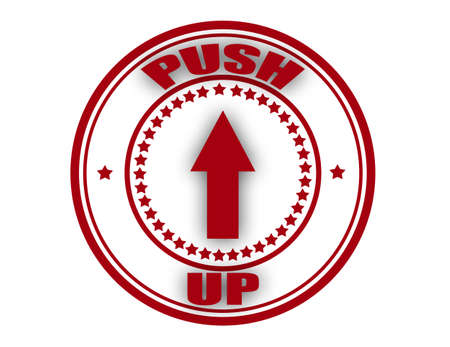 push up: Stamp with text push up inside, vector illustration