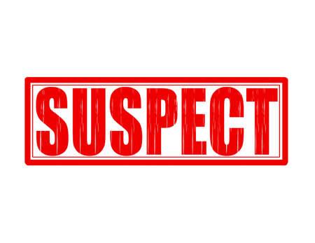 suspect: Stamp with word suspect inside, vector illustration Illustration