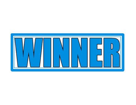 innen: Stempel mit Wort Gewinner innen, Vektor-Illustration Illustration