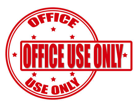 office use: Stamp with text office use only inside, vector illustration
