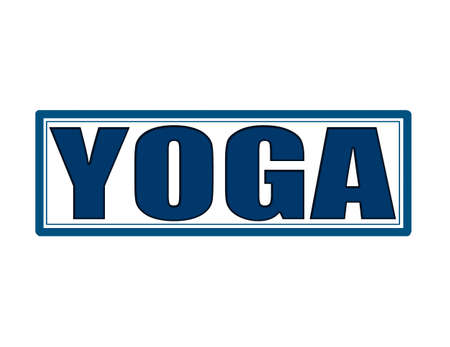 Stamp with word yoga inside, vector illustration