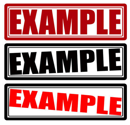 example: Stamp with word example inside, vector illustration