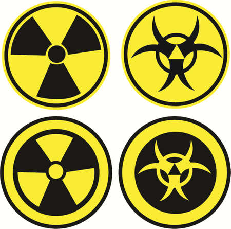 Bio hazard icons set in two different styles, vector illustration Stock Vector - 24472266