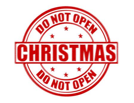 not open: Timbro con tect non aprire dentro, illustrazione vettoriale