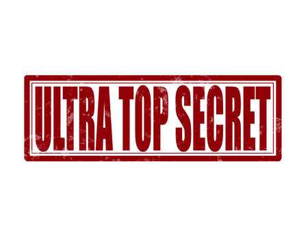 ultra: Stamp with text ultra top secret inside, vector illustration