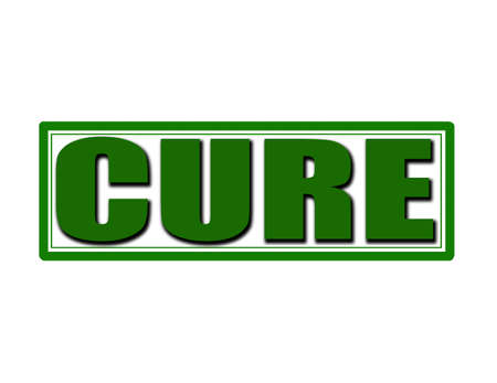 cure: Stamp with word cure inside, vector illustration Illustration