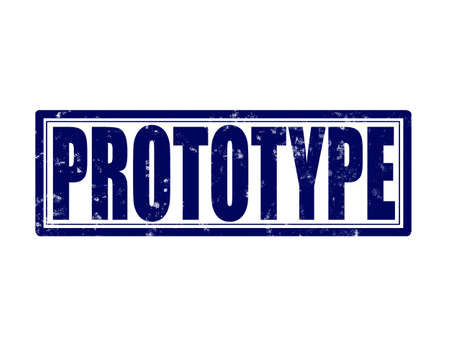 prototype: Stamp with word prototype inside, vector illustration