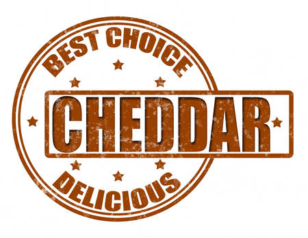 cheddar: Stamp with word cheddar inside, vector illustration
