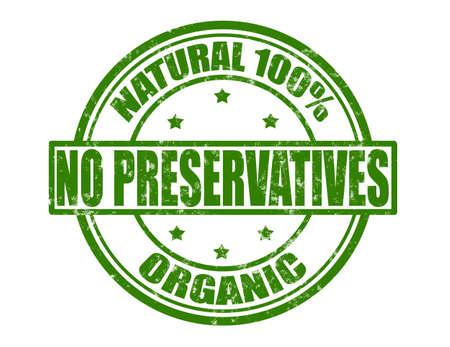 preservatives: Sello con texto sin conservantes interior, ilustraci�n vectorial