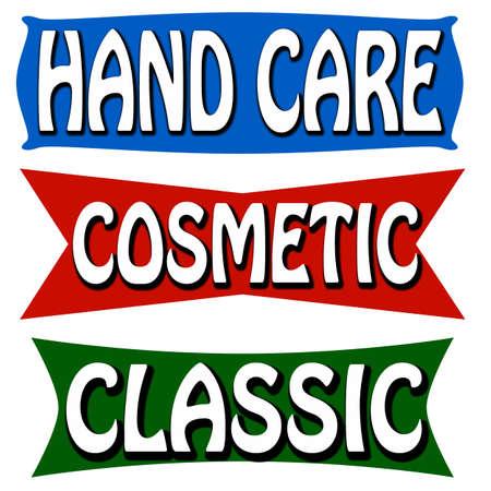 soins mains: Timbre avec soin des mains de texte � l'int�rieur, illustration vectorielle
