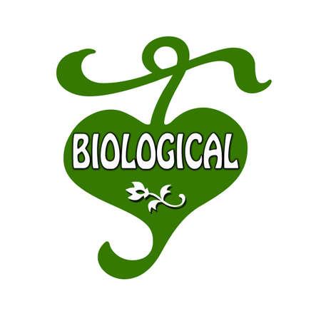 biological: Stamp with word biological inside, vector illustration