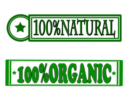 innate: Stamp with words natural and organic inside, vector illustration