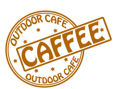 outdoor cafe: Stamp with text outdoor cafe inside, vector illustration