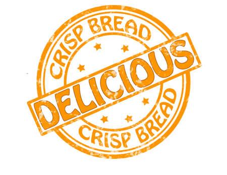 crisp: Stamp with text crisp bread inside, vector illustration