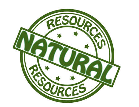Stamp with text natural resources inside, vector illustration Illustration