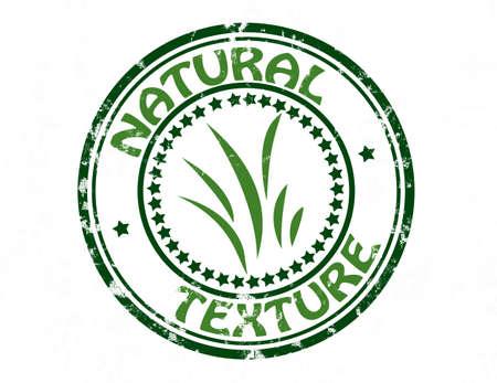 innate: Timbro con testo texture naturale dentro, illustrazione vettoriale