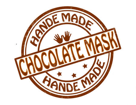 chocolate mask: Stamp with text chocolate mask inside, illustration