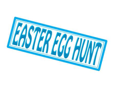 whaling: Stamp with text Easter egg hunt inside, illustration