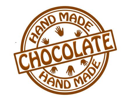 avuç: Resimde içinde yapılan metin çikolata elle damga