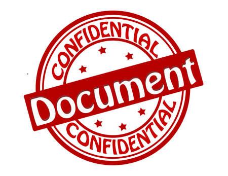 Selo com texto do documento confidencial ilustra Ilustração