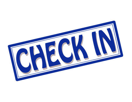 check in: Stamp with text check in inside illustration