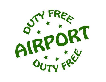 devoir: Timbre avec l'a�roport duty free de mot � l'int�rieur