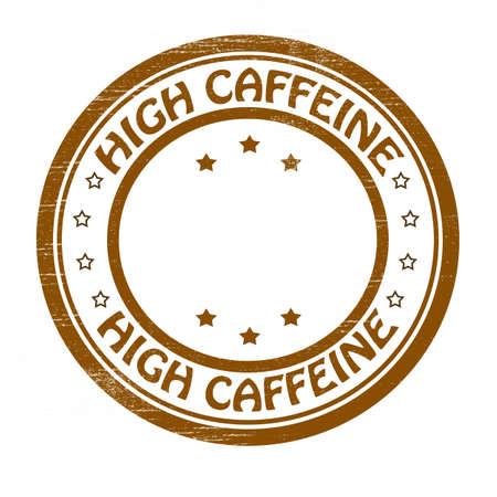 eminent: Stamp with text high caffeine inside