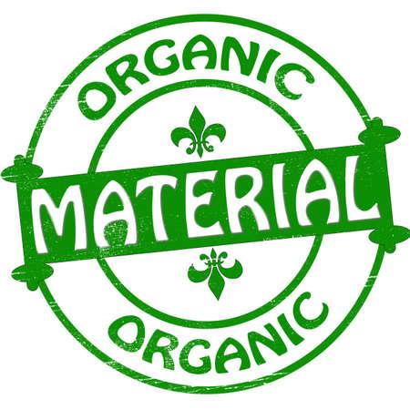 terrena: Timbro con testo di materiale organico all'interno