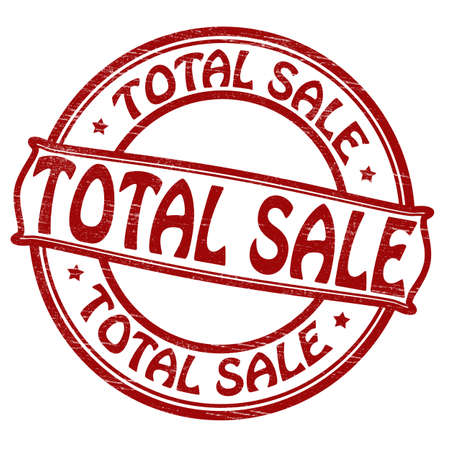total: Stamp with text total sale inside
