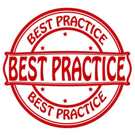 profesar: Sello con el texto dentro de las mejores pr�cticas Vectores