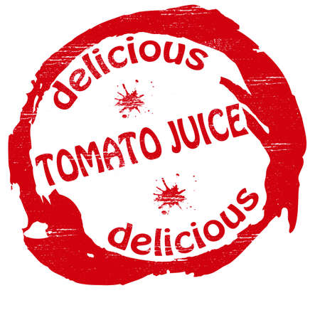 admirable: Stamp with text tomato juice inside Illustration