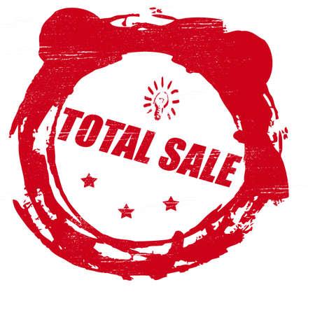 totales: Sello con la venta total de texto dentro