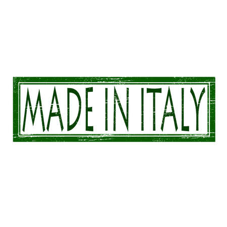 made in italy: Stamp with text made in Italy inside, vector illustration Illustration