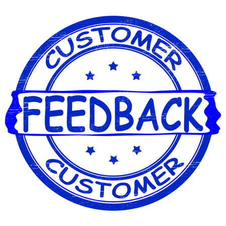 Stamp with text customer feedback inside, vector illustration Illustration