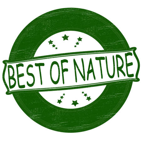 Stamp with text best of nature inside, vector illustration Stock Vector - 26622278