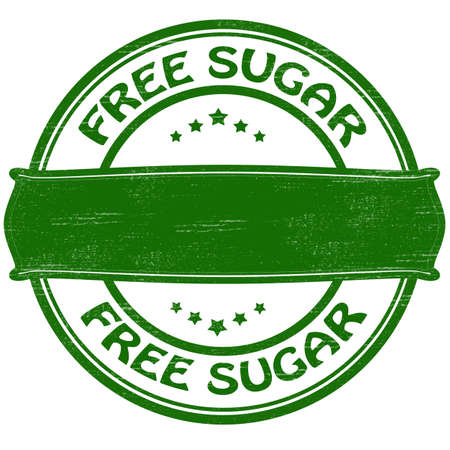 liberate: Stamp with text free sugar inside, vector illustration Illustration