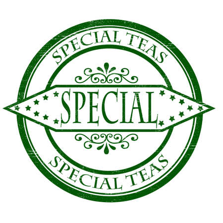 particular: Stamp with text special teas inside, vector illustration
