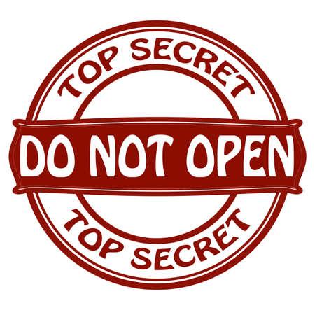 not open: Timbro con il testo non aprire illustrazione all'interno