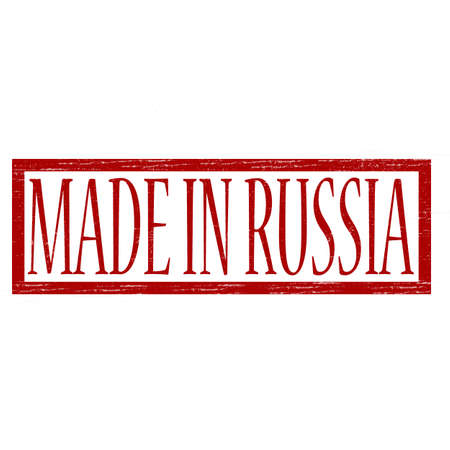 made in russia: Stamp with text made in Russia inside, vector illustration Illustration