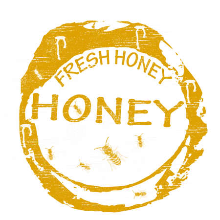 crisp: Stamp with text fresh honey inside, vector illustration