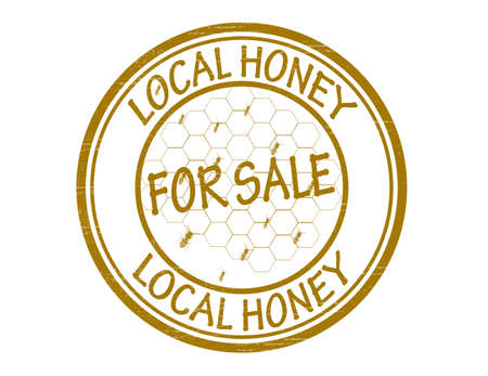 local: Stamp with text local honey inside, vector illustration