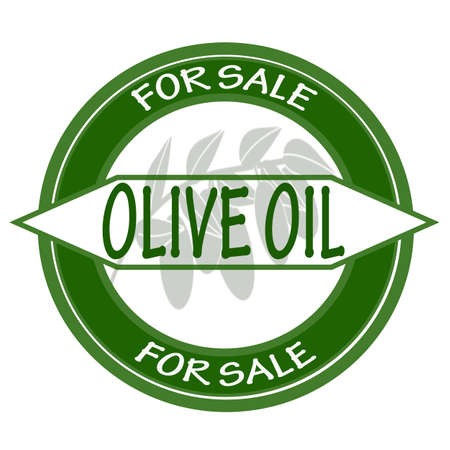 satılık: Stamp with text olive oil for sale inside, vector illustration