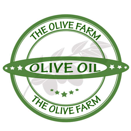 olive farm: Stamp with text the olive farm inside, vector illustration
