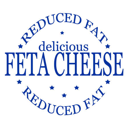 savoury: Stamp with text feta cheese inside, vector illustration Illustration